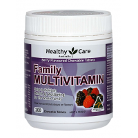 Healthy Care Family Multivitamin Berry Flavour (200 Chewable Tablets)